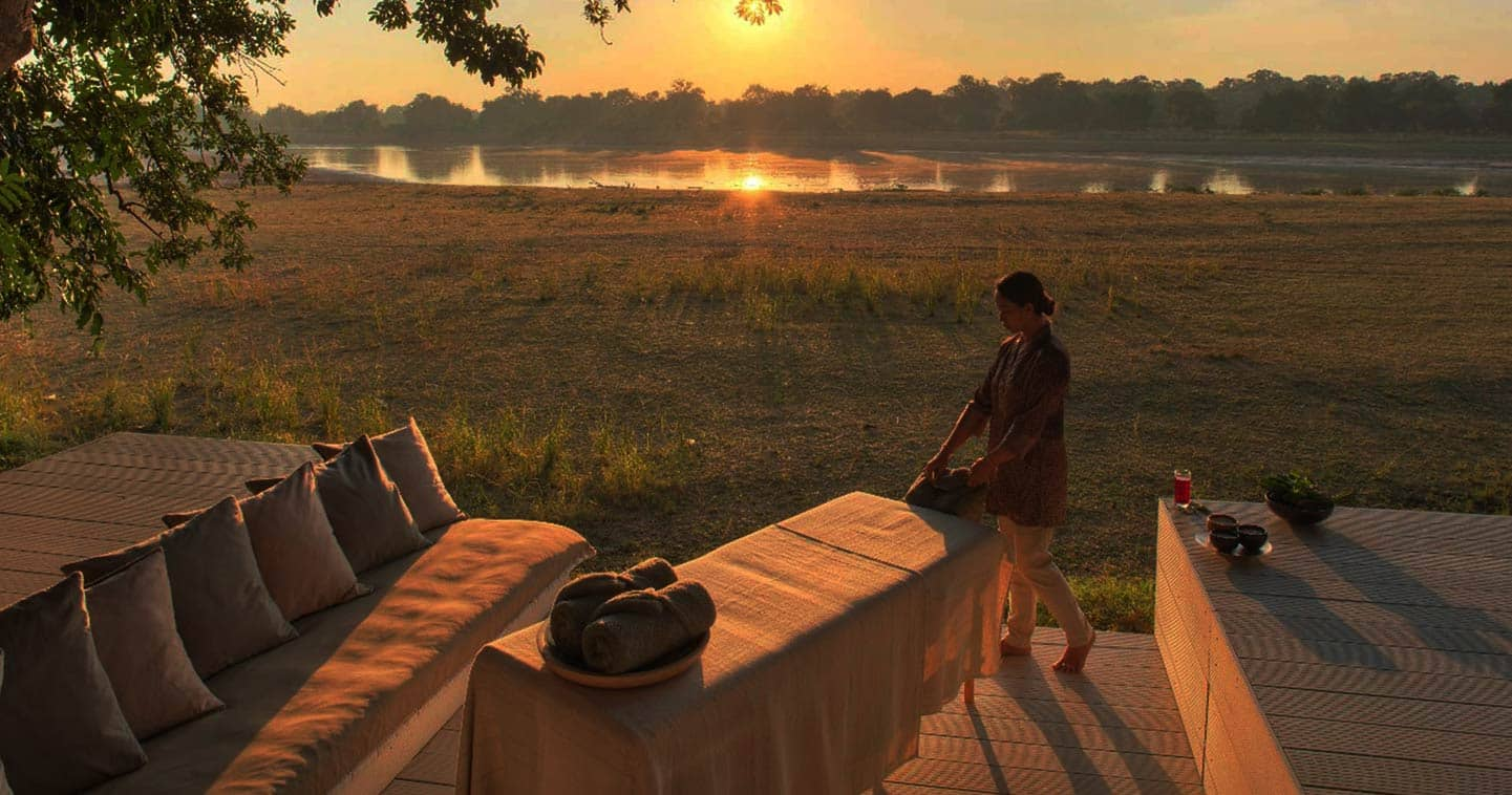 Outdoor Massage at The Chinzombo in the South Luangwa National Park